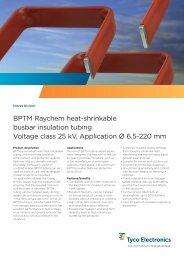 BPTM Raychem heat-shrinkable busbar insulation tubing Voltage ...