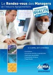 Rendez-vous managers qualité en IAA - CCI Rennes