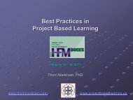 Best Practices in Project Based Learning - HFM BOCES