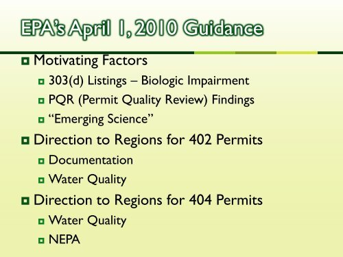 Program Summary Division of Mining & Reclamation - West Virginia ...
