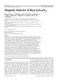 Magnetic behavior of Ba3Cu3Sc4O12 - Page 2
