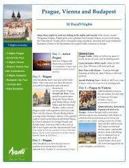 Prague, Vienna and Budapest - Avanti Destinations