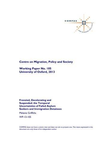 WP-13-105 - COMPAS - University of Oxford