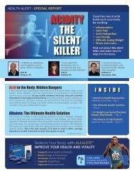 Health alert - special report acidity the silent killer - Yoli