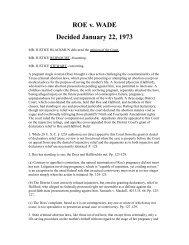 ROE v. WADE Decided January 22, 1973