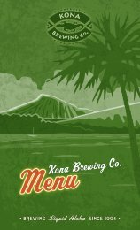Menu - Kona Brewing Company