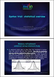 Syntax trial: statistical overview