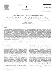 Mass spectrometry of peptides and proteins - CiteSeerX