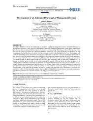 Development of an Automated Parking Lot Management System