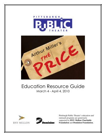Education Resource Guide - Pittsburgh Public Theater