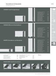 Technische Informationen Konvektoren & Heizwände