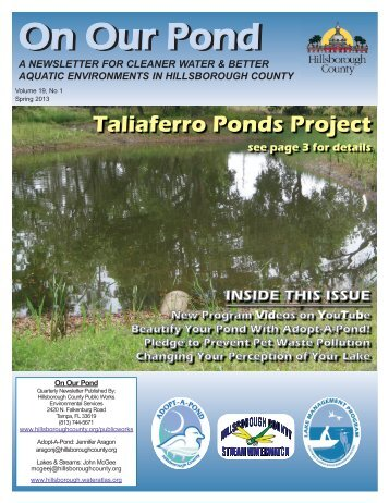 Adopt-A-Pond Newsletter - Spring 2013 - Hillsborough County ...