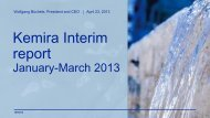 Kemira result presentation Q1 2013