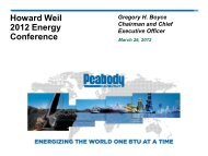 Howard Weil 2012 Energy Conference - Peabody Energy