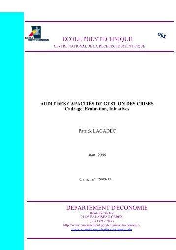 ECOLE POLYTECHNIQUE DEPARTEMENT D ... - Patrick Lagadec