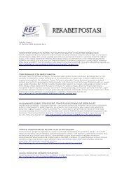 Rekabet Postası No.4 - REF - Sabancı Üniversitesi