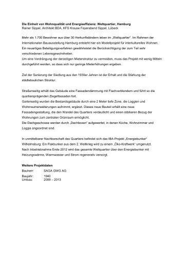 Die Einheit von Wohnqualität und Energieeffizienz ... - BDA Berlin