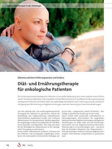 Fokus 2/13: Diät- und Ernährungstherapie für onkologische Patienten