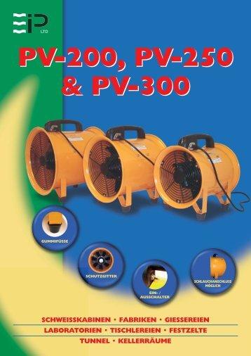 PV-200, PV-250 & PV-300 PV-200, PV-250 & PV-300