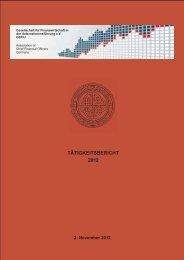 Tätigkeitsbericht 2012 (pdf Datei, 548 kB) - GEFIU