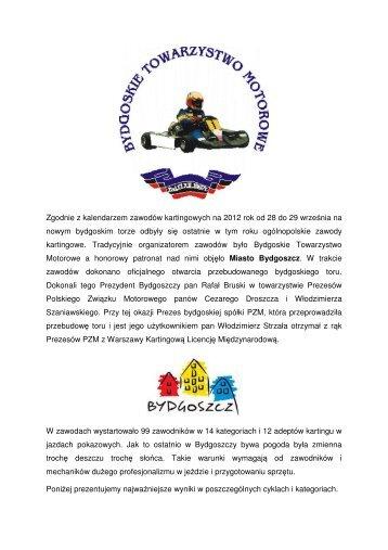 relacja z zawodow w Bydgoszczy 28/29.09.2012.