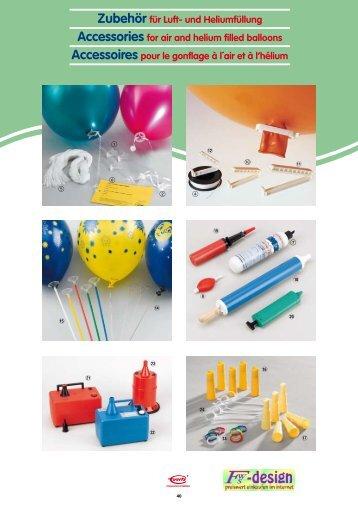 Zubehör für Luft- und Heliumfüllung Accessories for air ... - fws-design