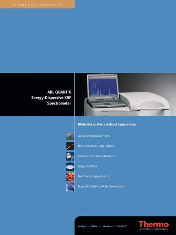 ARL QUANT'X Energy-Dispersive XRF Spectrometer - MAXLab