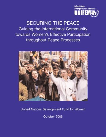 Securing the Peace PDF - UN Women