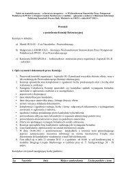 Protokół z posiedzenia Komisji Rekrutacyjnej Komisja w ... - Lublin