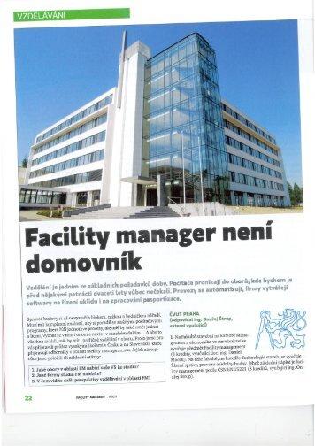 Facility Manager není domovník - Moravská vysoká škola Olomouc
