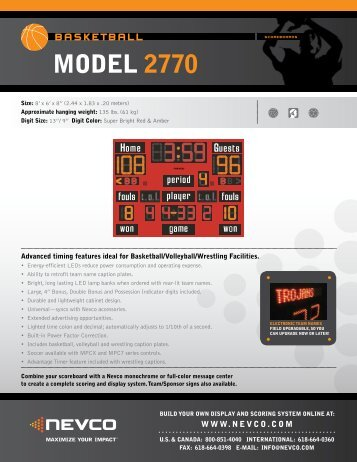 MODEL 2770 - Nevco