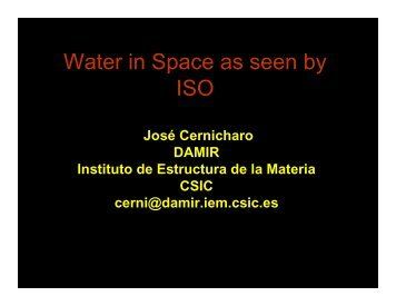 Water in Space as seen by ISO