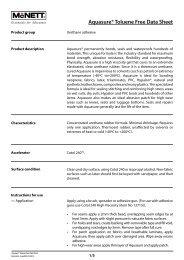 Aquasure® Toluene Free Data Sheet - McNett Europe