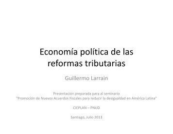 Presentacion de Guillermo Larraín con conclusiones a partir de los ...