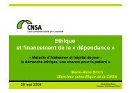 Marie-Aline Bloch Directeur scientifique de la CNSA - APHJPA