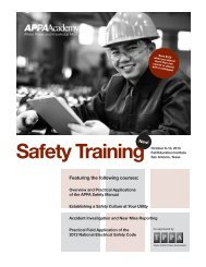 Safety Training Brochure - American Public Power Association