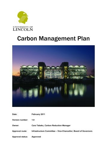 Download Carbon Management Plan - University of Lincoln