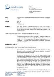 Päätös Nro 15/2013/1 Dnro LSSAVI/320/04.08/2010 Annettu ...