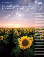 Balancing risk and performance with an integrated finance - IBM
