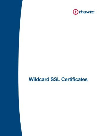 Wildcard SSL Certificates - Thawte
