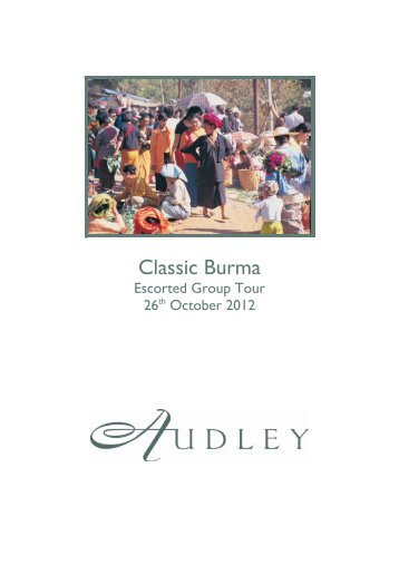 Classic Burma - Audley Travel