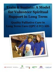 Train & Sustain - Quality Palliative Care in Long Term Care
