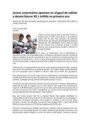Jovens empresários apostam no aluguel de tablets Estado ... - OPEE