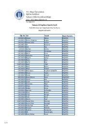 Liste - Okan Üniversitesi