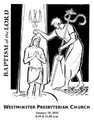 J - Westminster Presbyterian Church