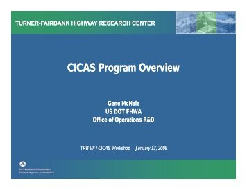 CICAS Program Overview - Traffic Signal Systems Committee