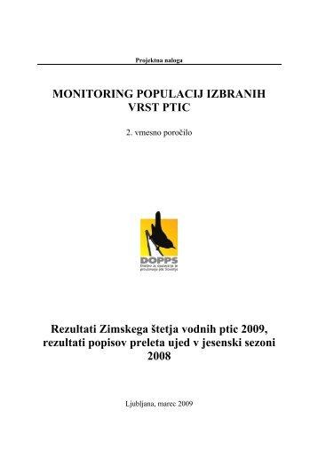 MONITORING POPULACIJ IZBRANIH VRST PTIC ... - Natura 2000