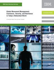 Global Movement Management: Commerce, Security, and - IBM