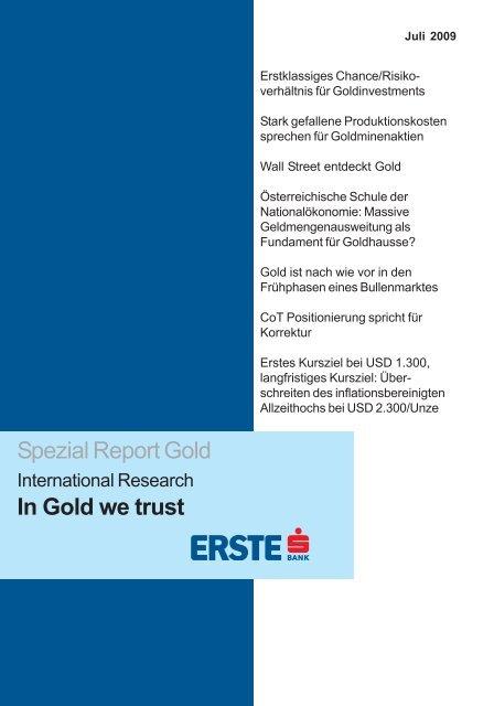 In Gold we trust - GO-AHEAD