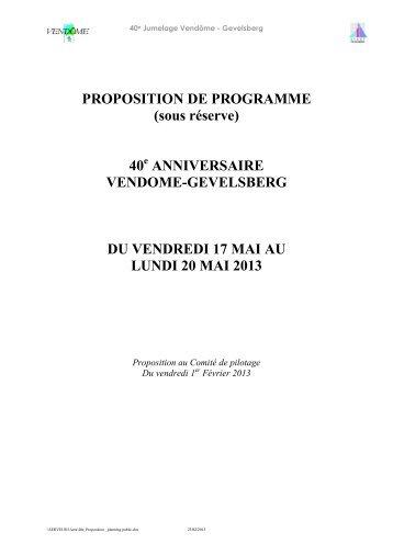 PLANNING DU VENDREDI 17 MAI 2012 - Tourism System